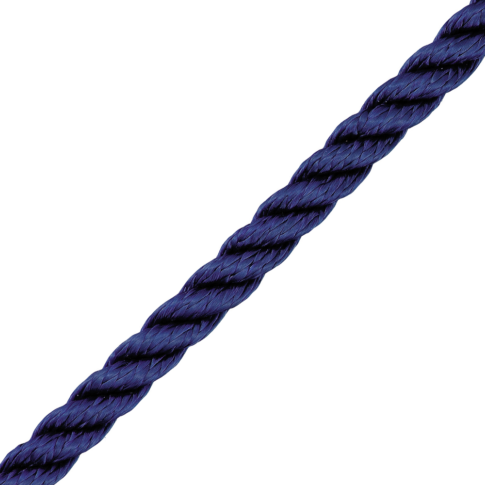 3 Strand Polyester Navy 14mm