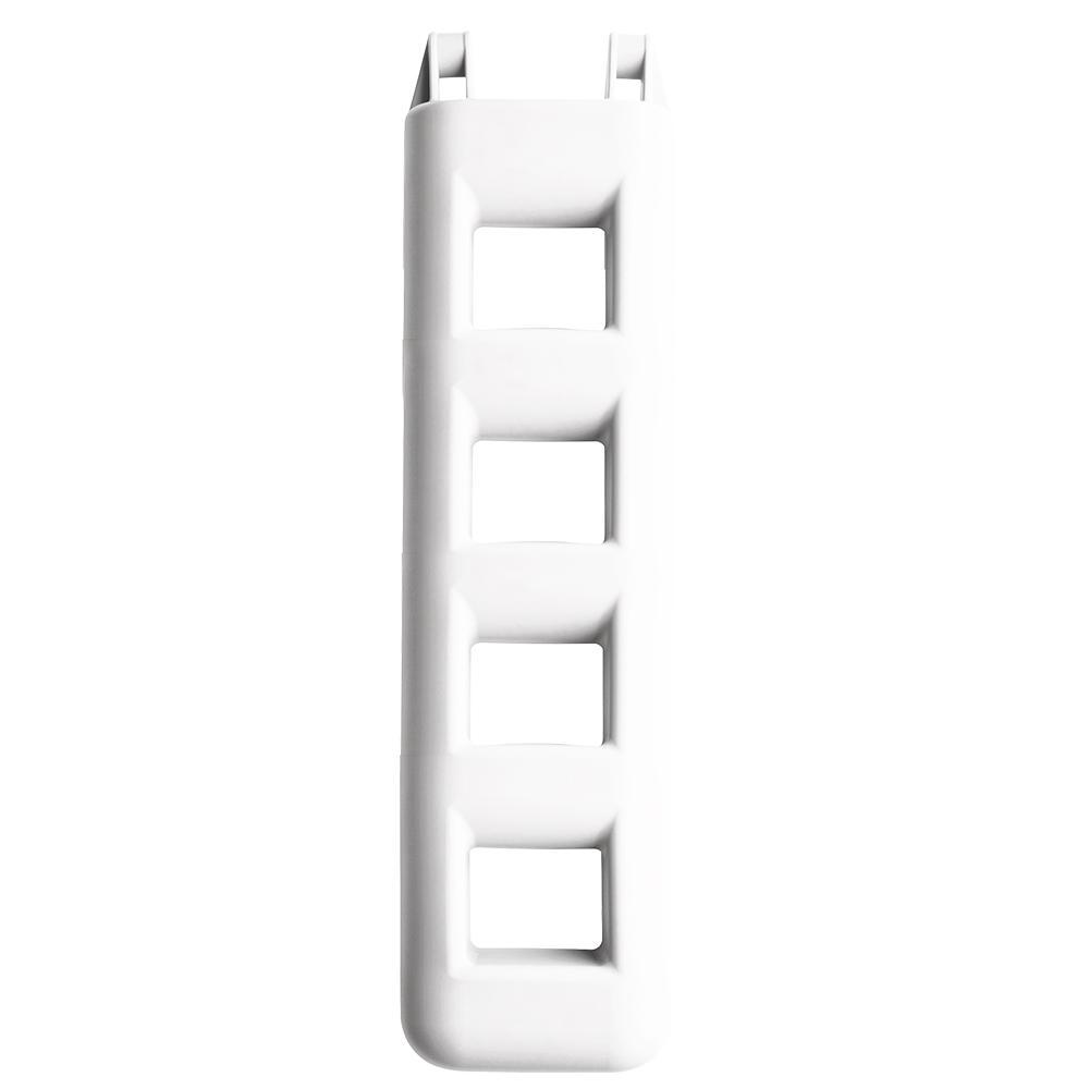 5 Step Fender Ladder White- L95