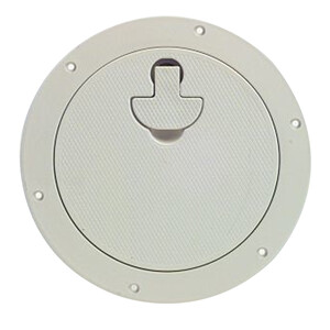 "Inspection Hatch Round 8""/203mm Dia White"