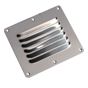 Stainless Steel 6 Louvre Vent 127x115mm