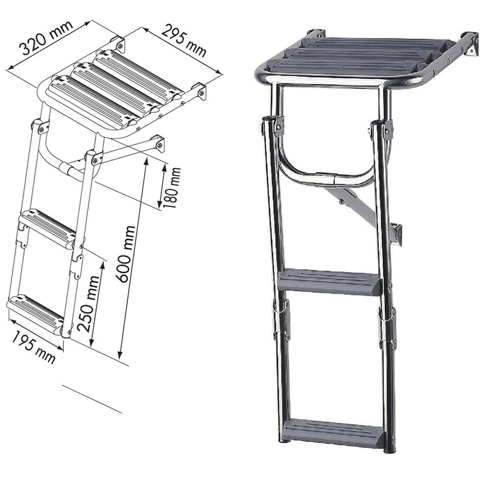 Stainless Steel Platform Ladder