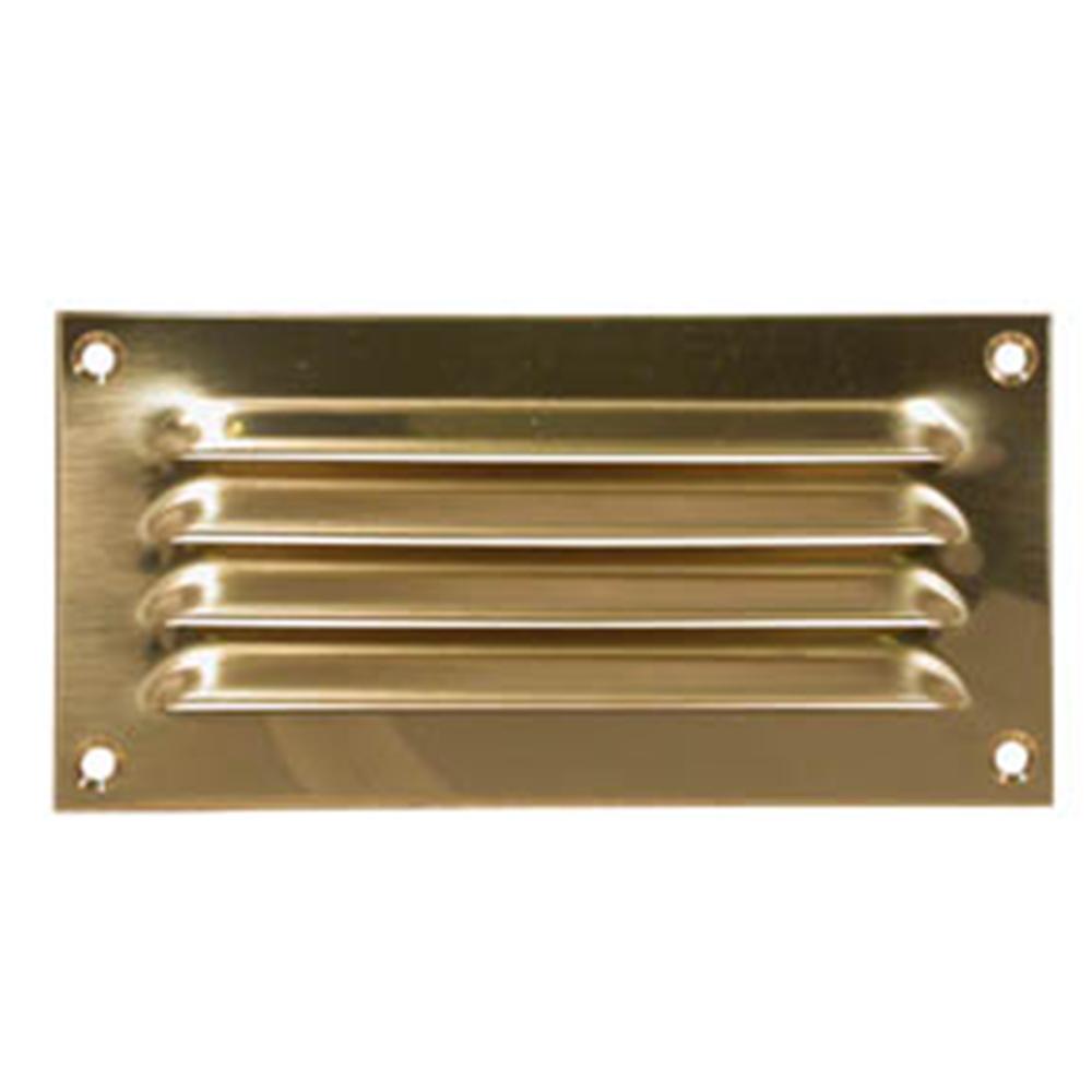 Brass Louvre Vent 150x75mm