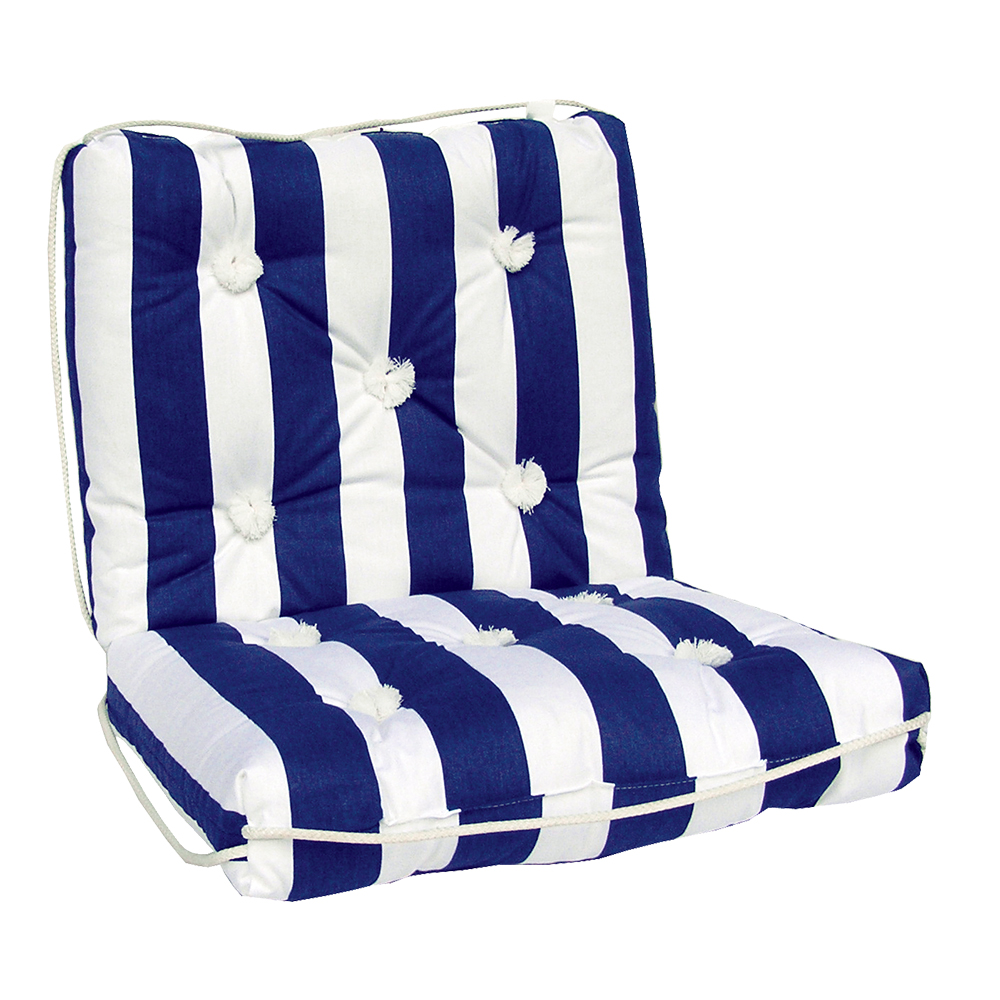 Kapok Cushion Double Blue & White