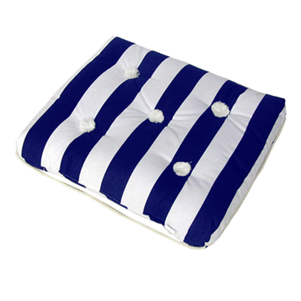 Kapok Cushion Single Blue & White