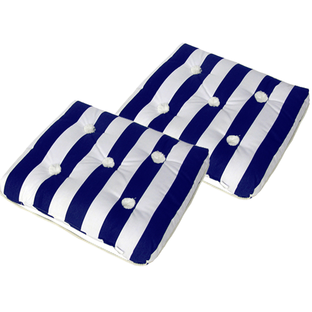 SPECIAL OFFER 2 x Kapok Cushion Single Blue & White (2x87005