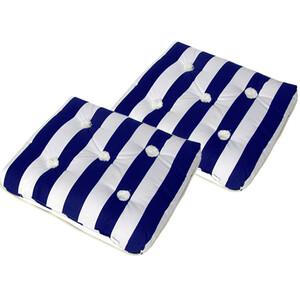 SPECIAL OFFER 2 x Kapok Cushion Single Blue & White (2x87005