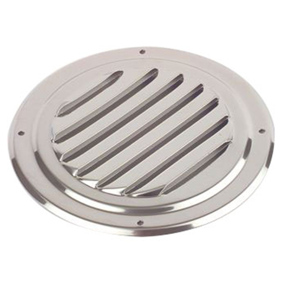 Round Louvre Vent Stainless Steel 102mm