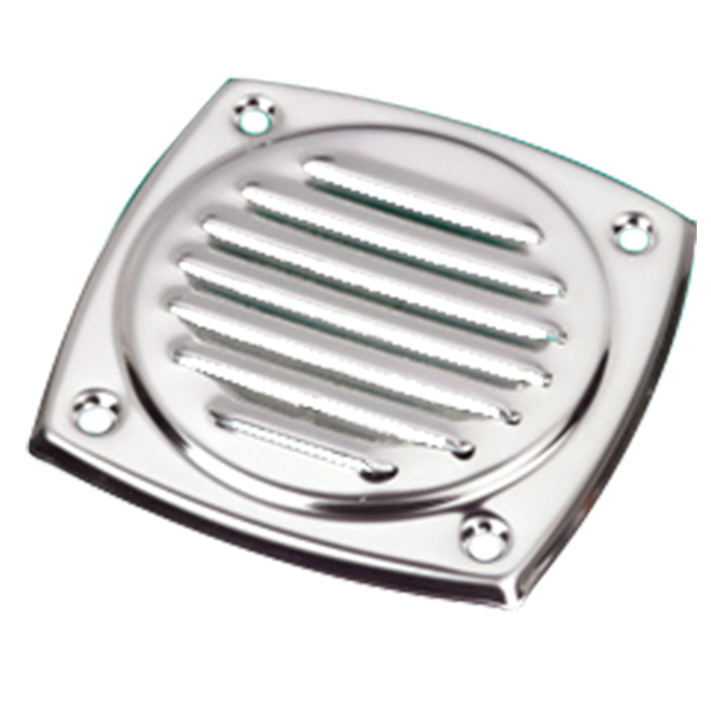 Stainless Steel Square Louvre Vent 102x102mm