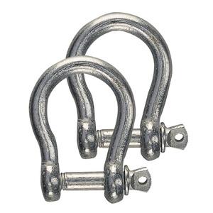 Galvanised Steel Bow Shackle (2pk)