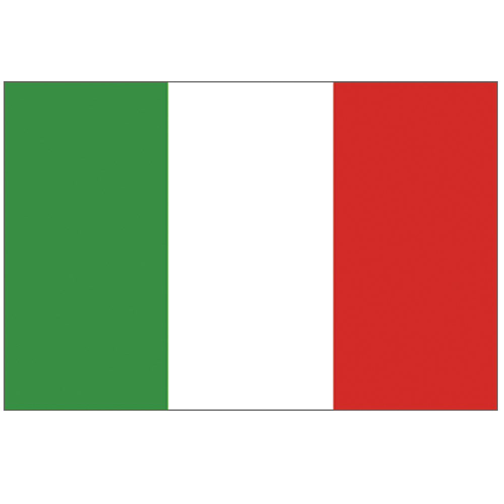 Courtesy Flag Italy