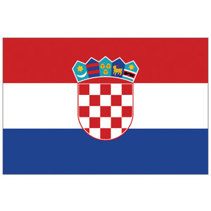 Courtesy Flag Croatia