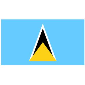 Courtesy Flag St. Lucia