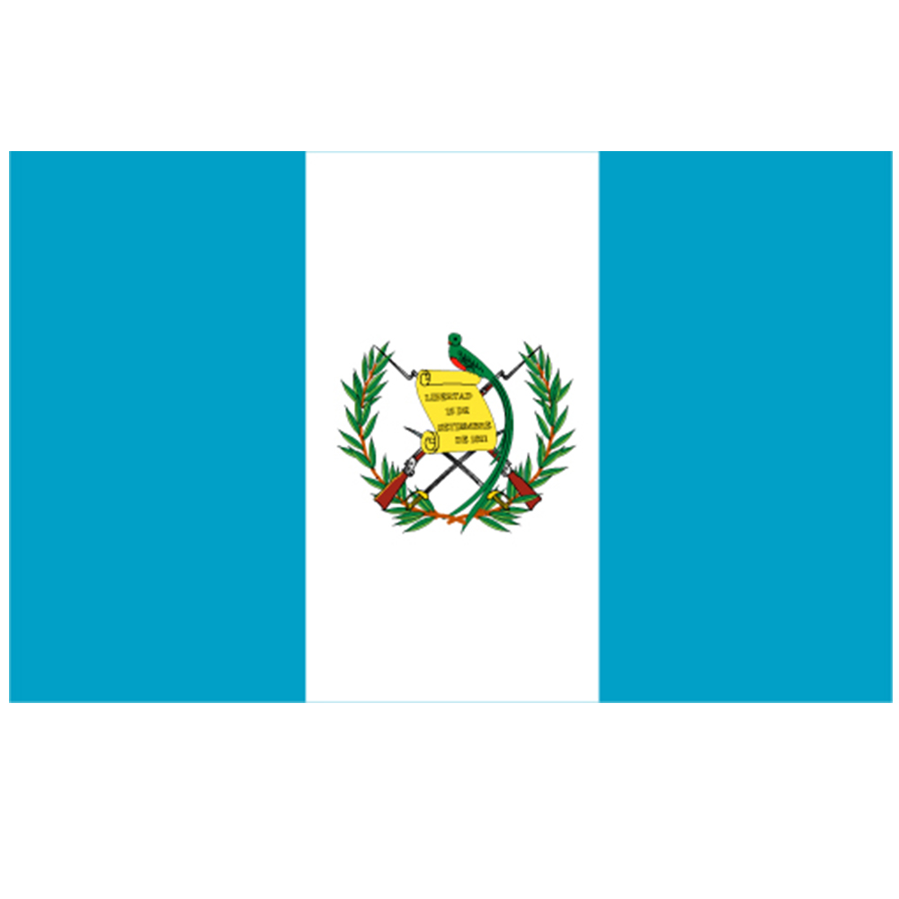Courtesy Flag Guatemala