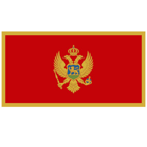 Courtesy Flag Montenegro