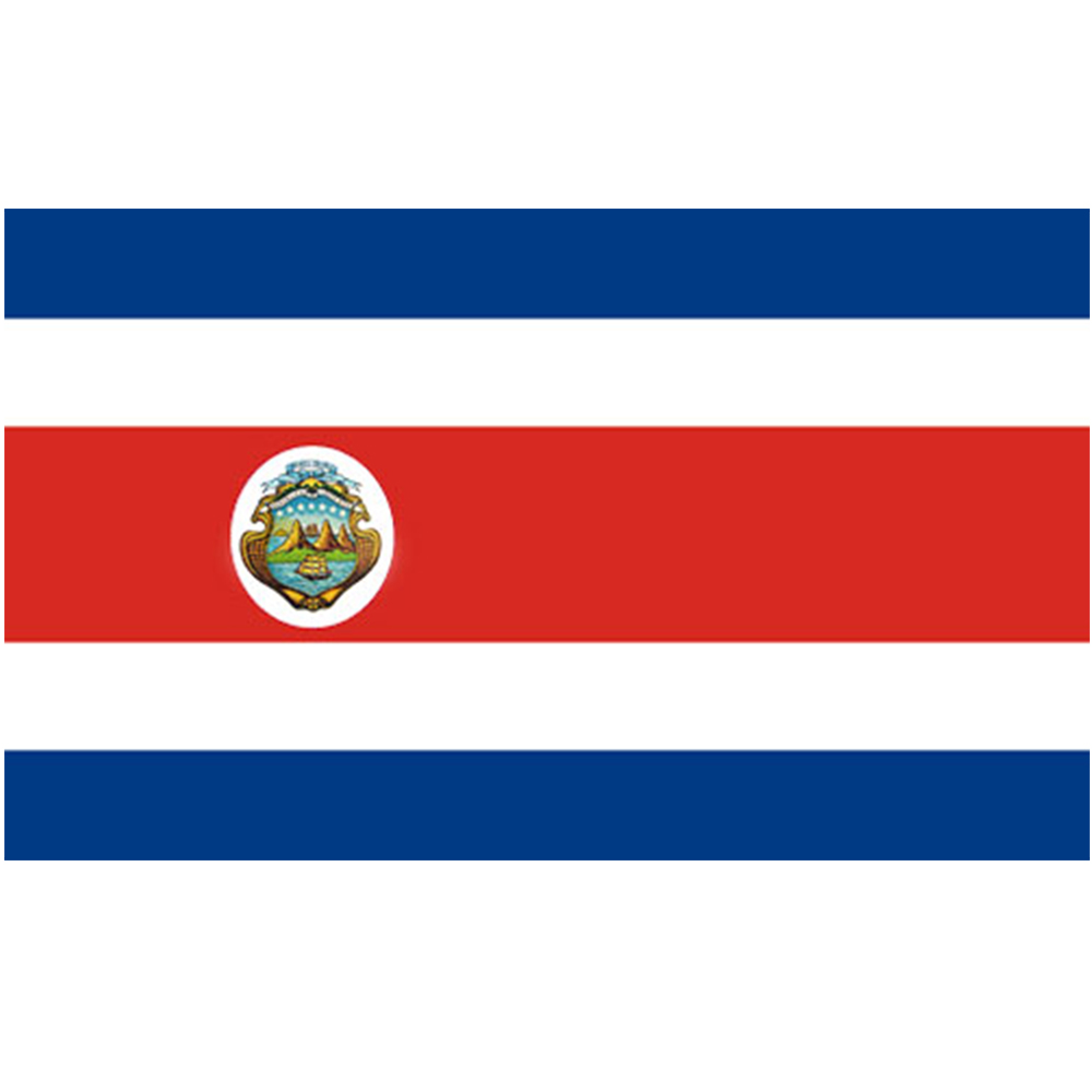 Courtesy Flag Costa Rica