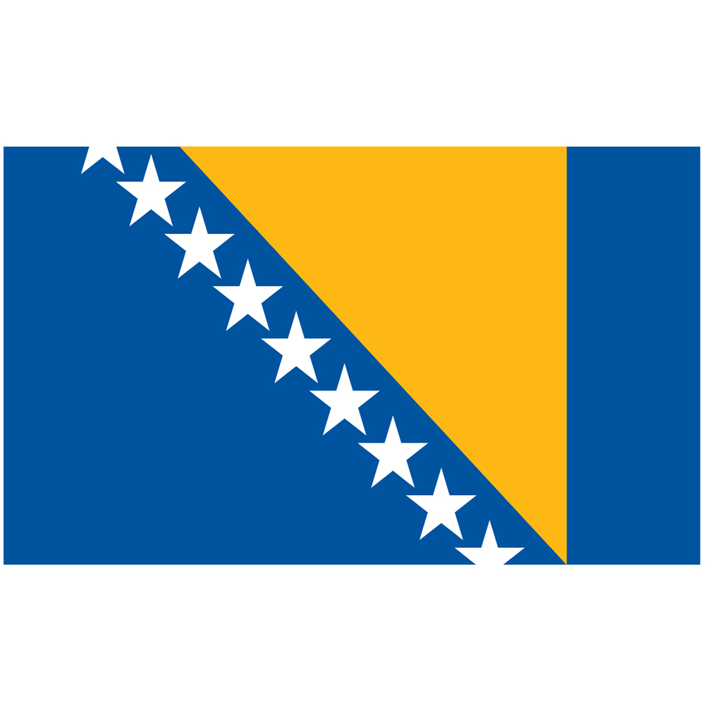 Courtesy Flag Bosnia-Herzegovina