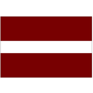Courtesy Flag Latvia