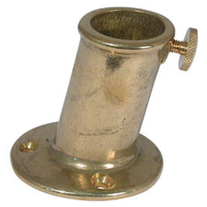 Flagstaff Socket - Brass