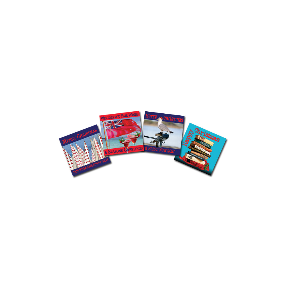 Set of 4 Nautical Christmas Cards