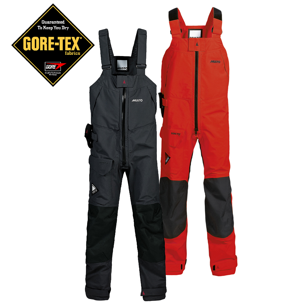 Musto  MPX Goretex sailing Offshore Trousers Red or Black