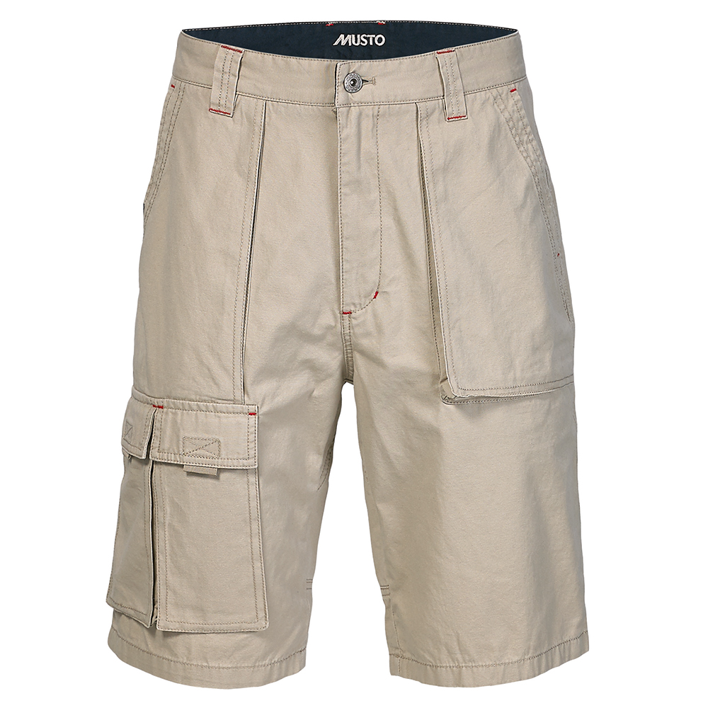 6 Pocket Crew Shorts- Lt Stone
