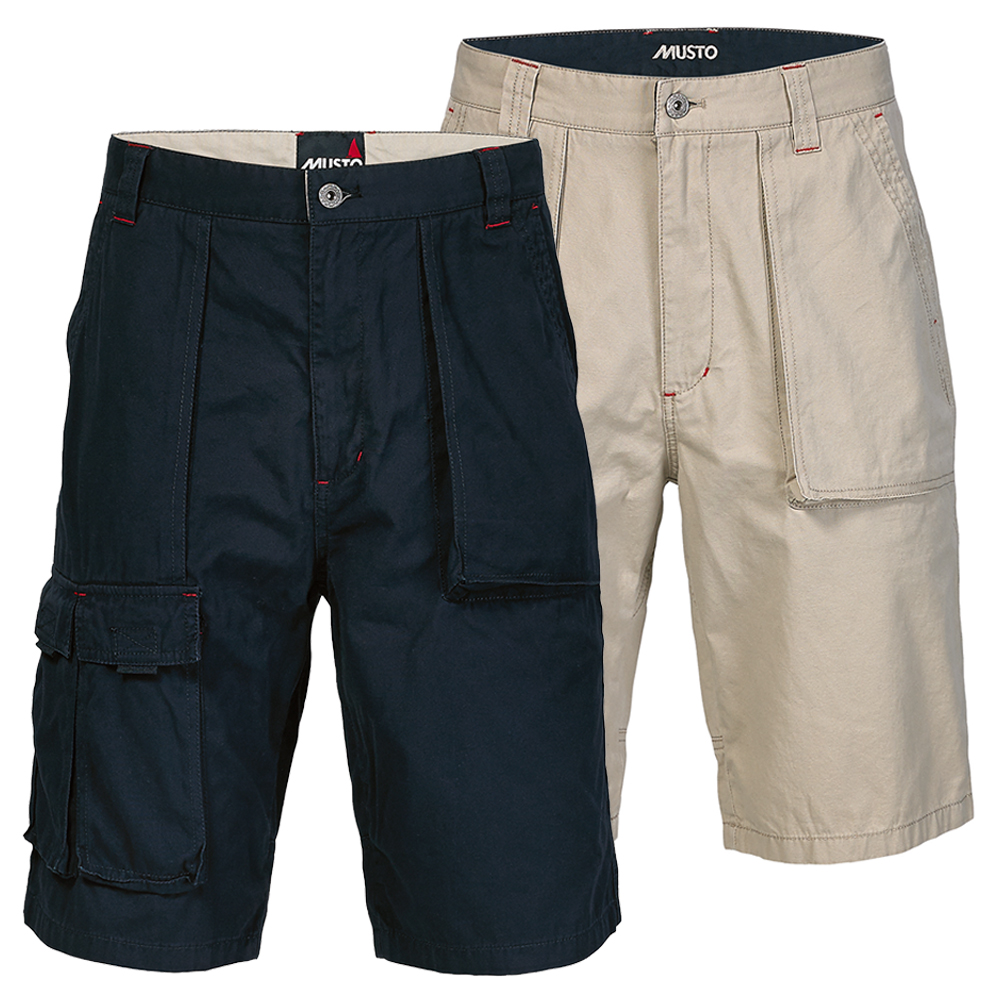 Musto 6 Pocket Crew Shorts- Lt Stone