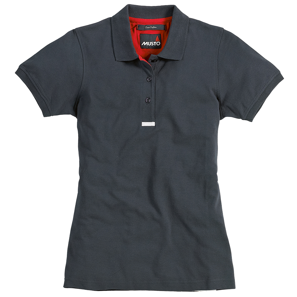 Womens Pique Polo in Navy or Red