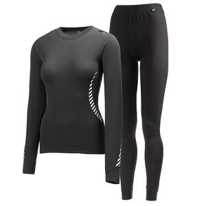 Ladies Lifa Twin Pack Black