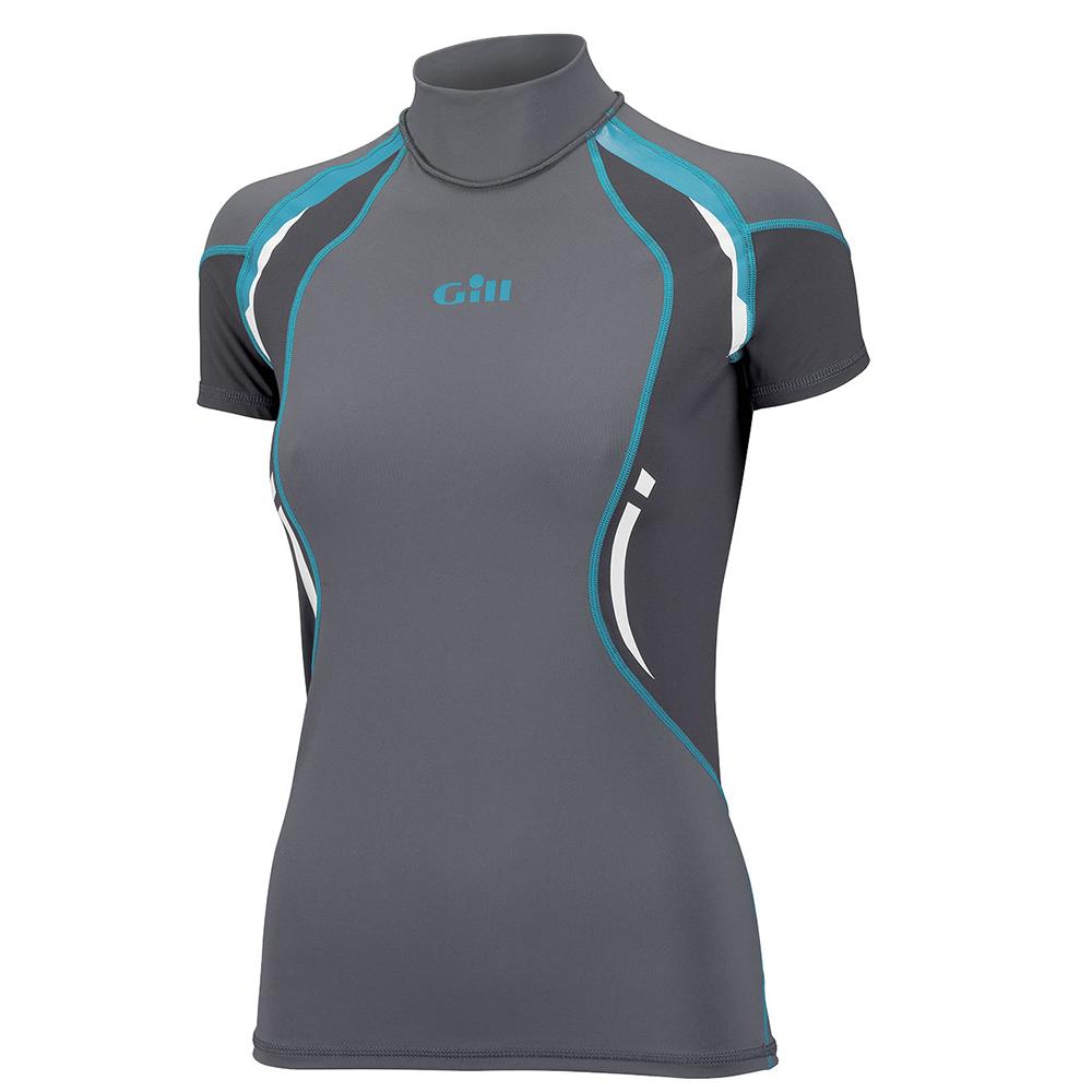 Ladies Short Sleeved Rash vest in Ash or Purple