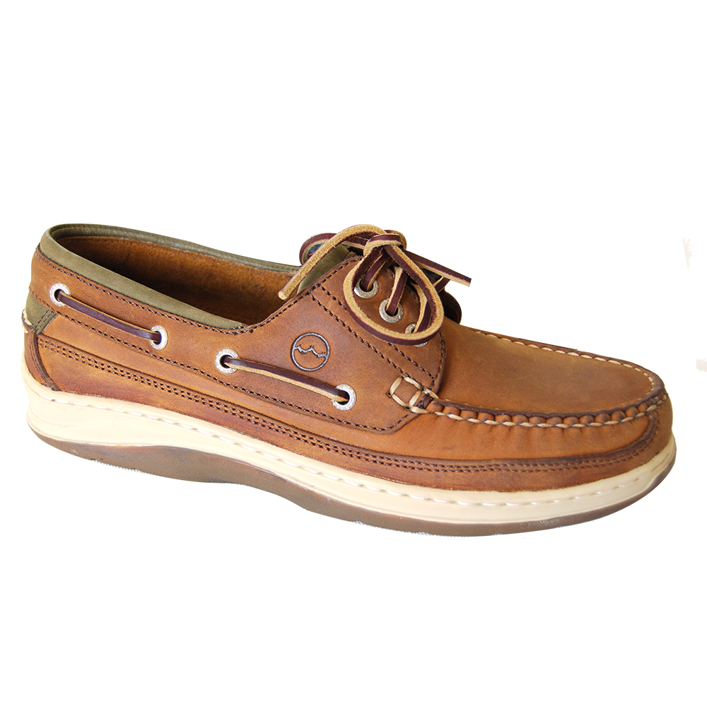 Squamish Sand Olive deck shoe