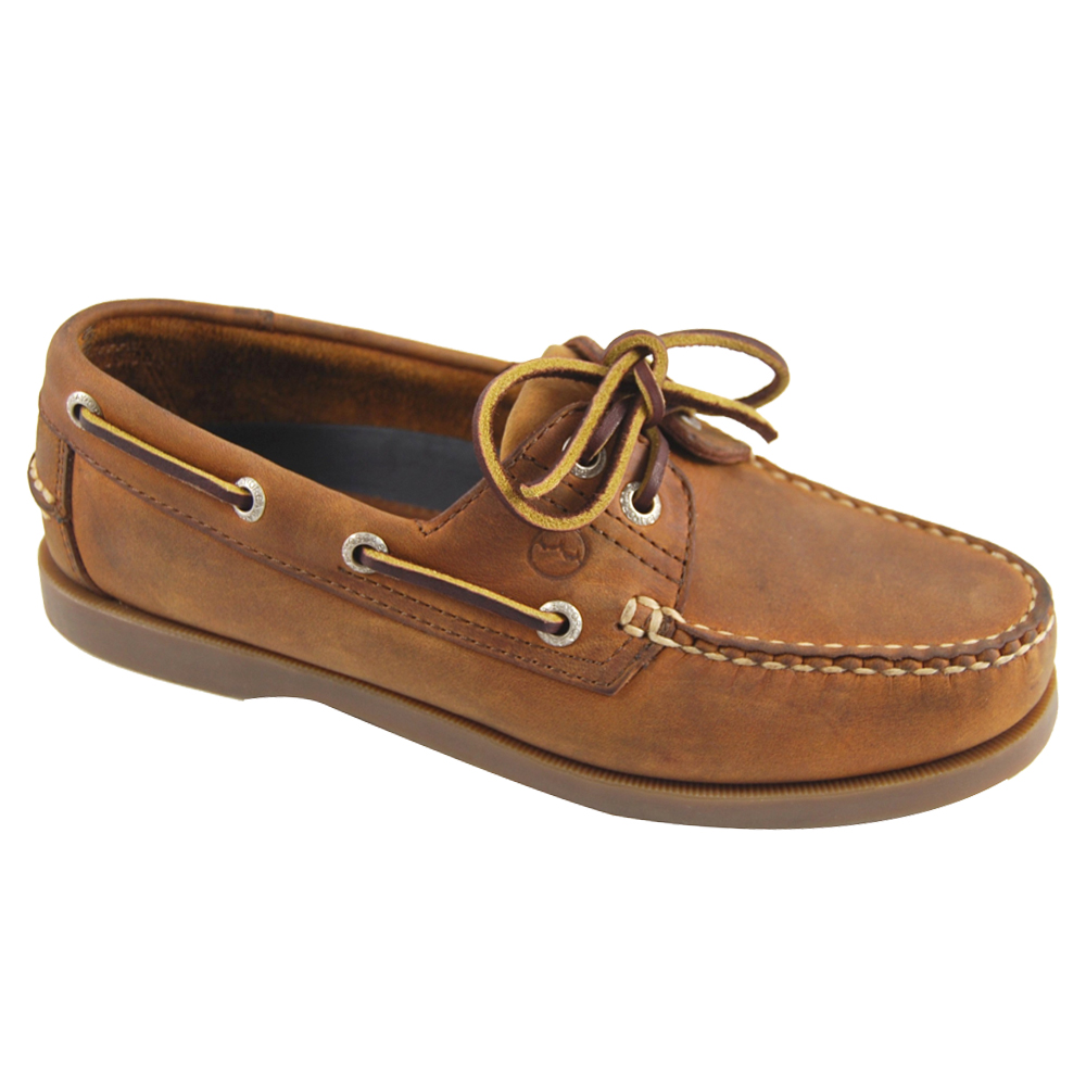 Creek Leather Deck Shoe - Sand