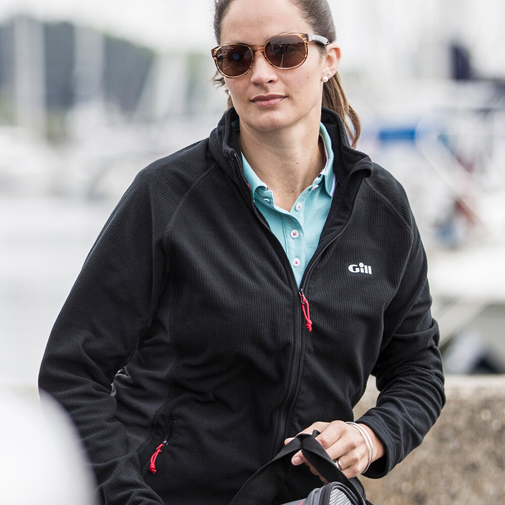 Womens Grid Microfleece Jacket