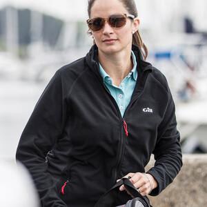 Womens Grid Microfleece Jacket