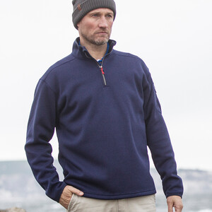 Knit Fleece - Navy