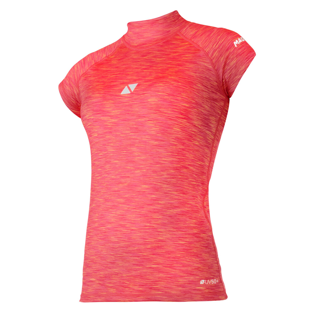 Women's Short Sleeved Cube Rash Vest