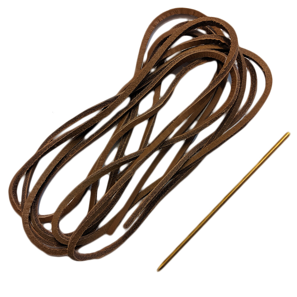 Leather Deck Shoe Laces - Brown