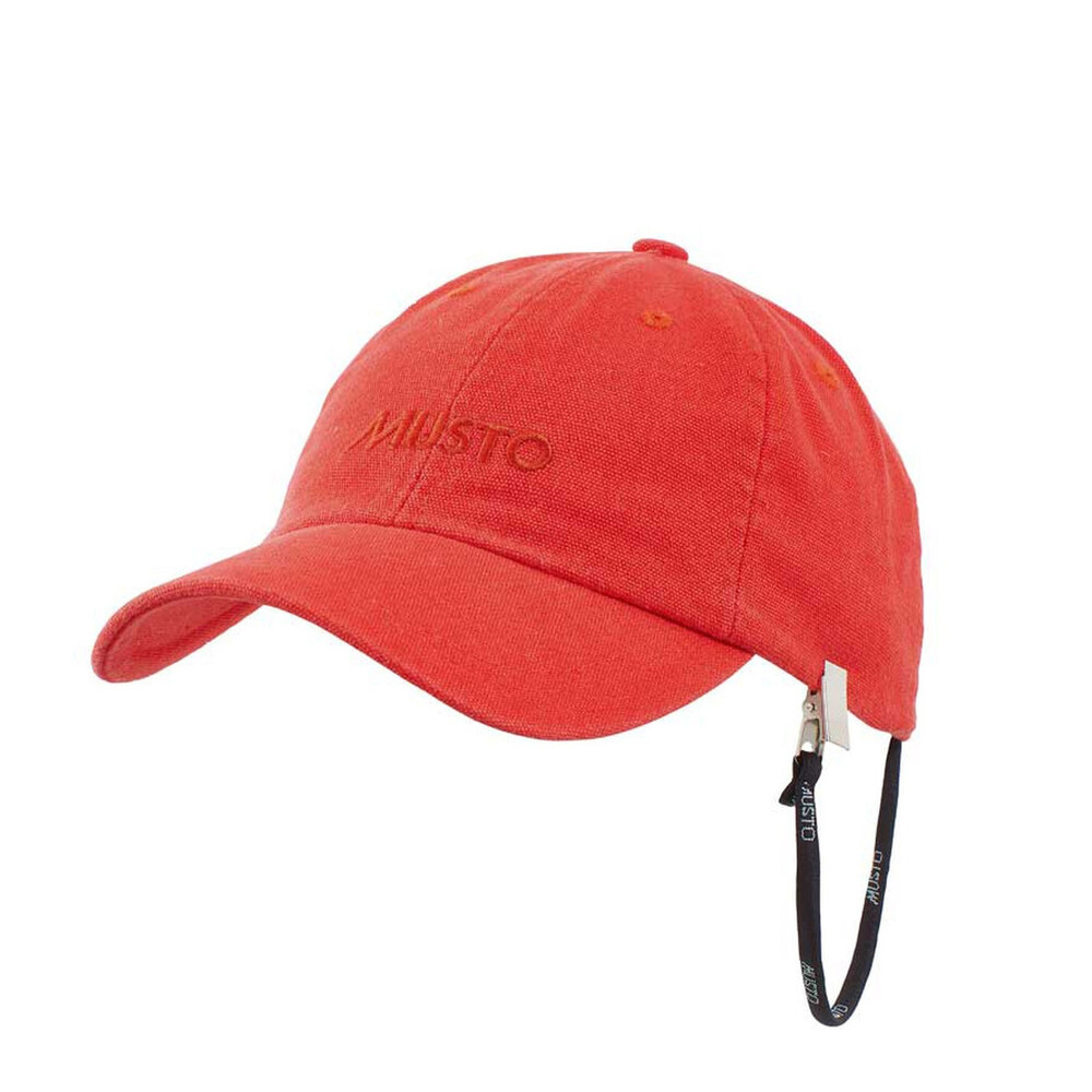 Self Fabric Branded Cap True Red