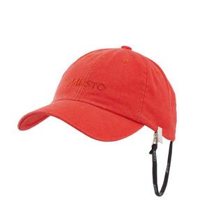 Self Fabric Branded Cap True Red