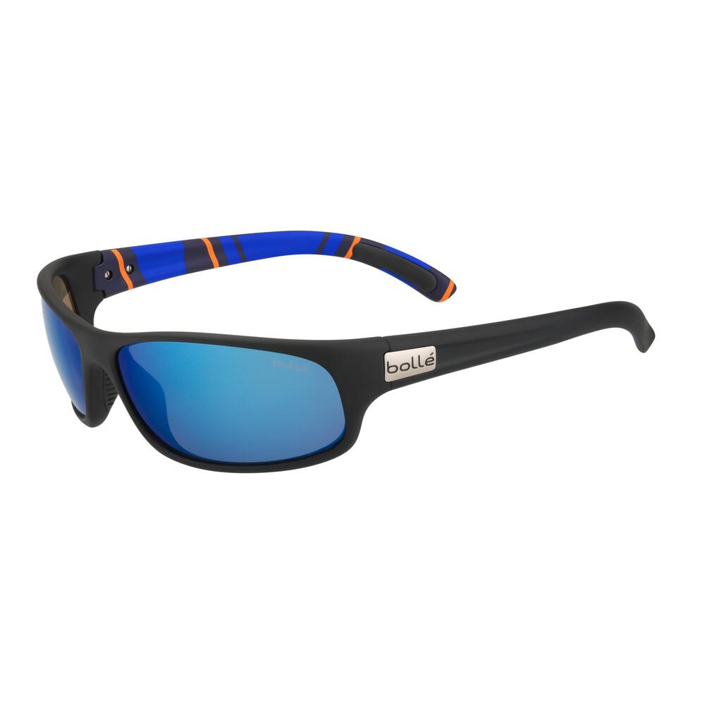 Anaconda Sunglasses - Matte Black/Stripes - Polarised