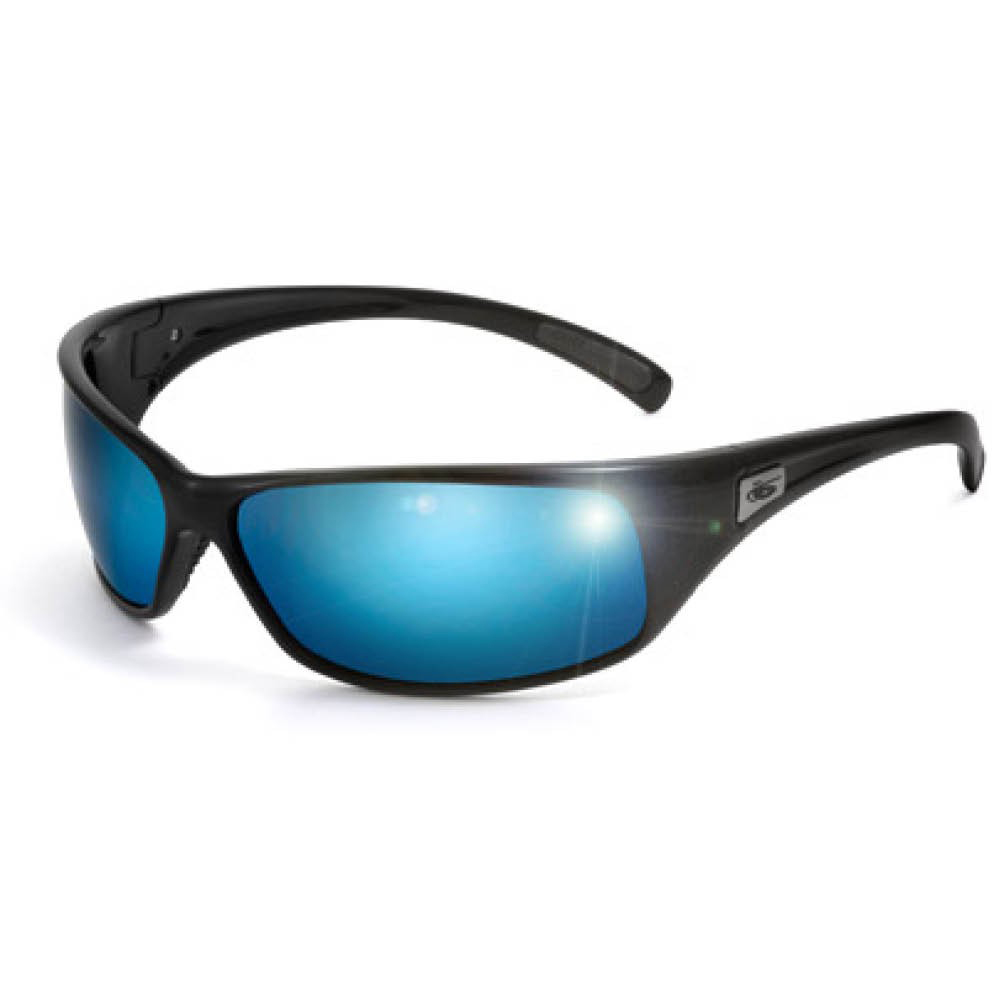 Recoil Sunglasses - Shiny Black - Polarised Offshore B