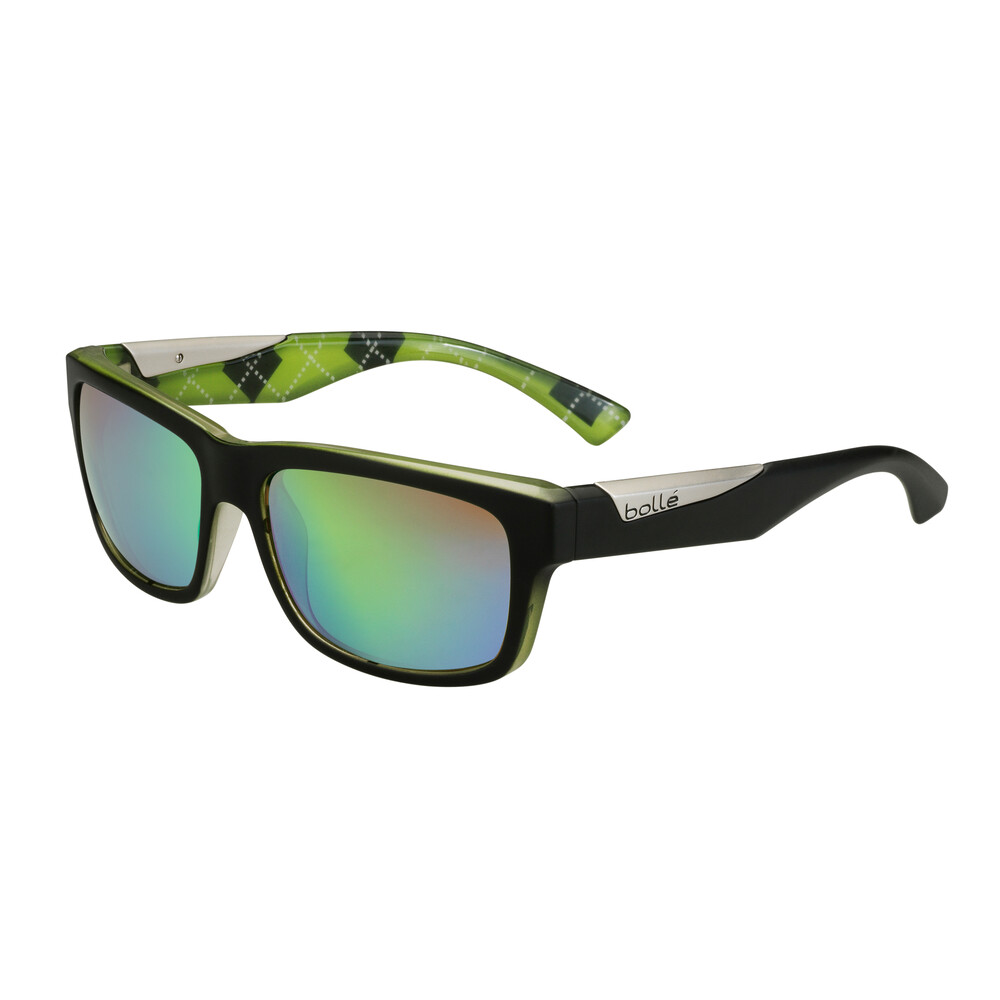Jude Sunglasses - Matte Black/Lime - Polarised Brown E