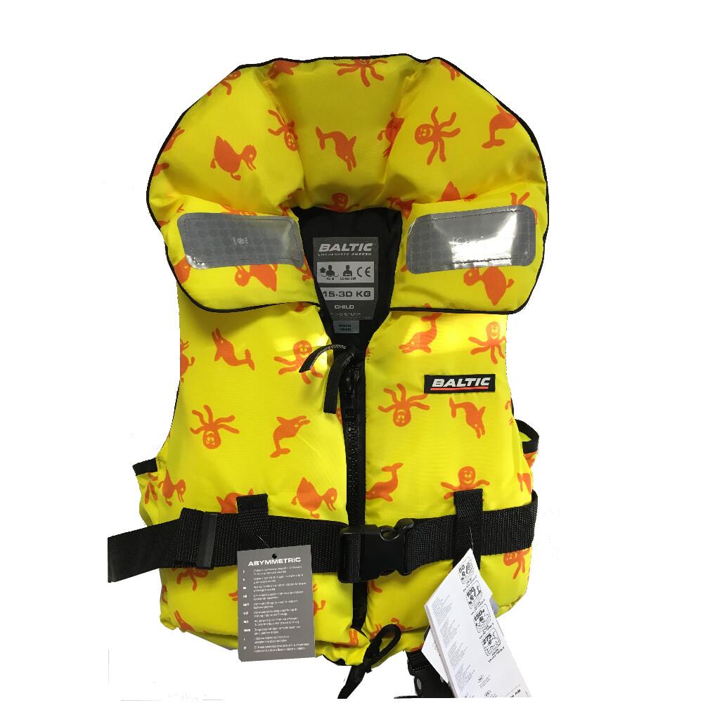 Child's 100N Lifejacket 15-30kgs Yellow Pattern