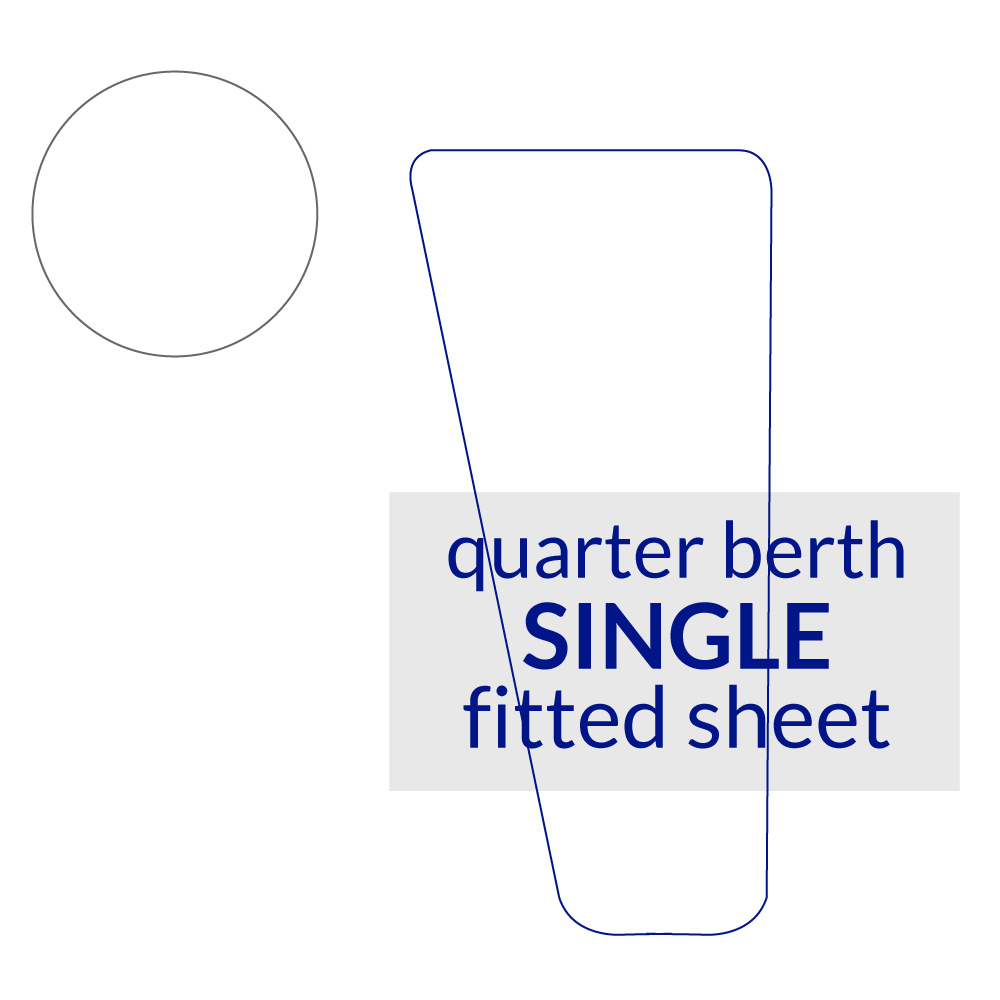 Quarter Berth Fitted Sheet Single