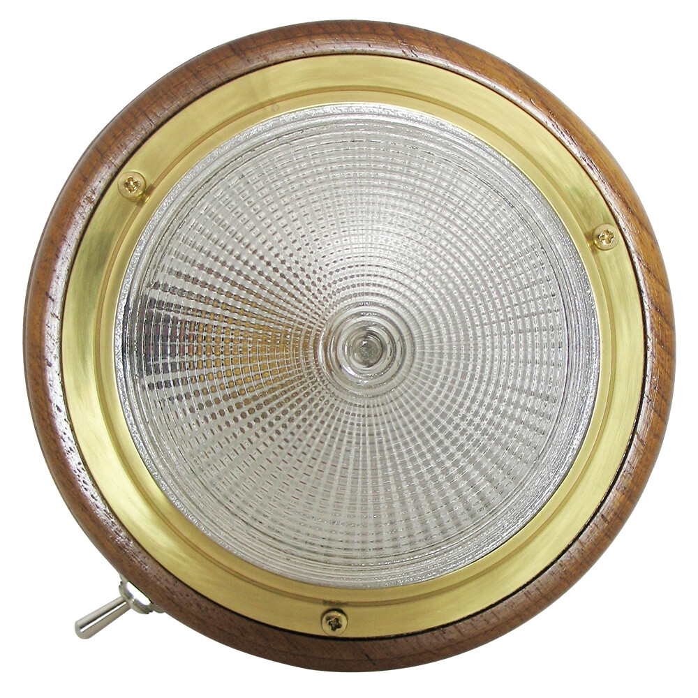 Teak Surface Mounted Light
