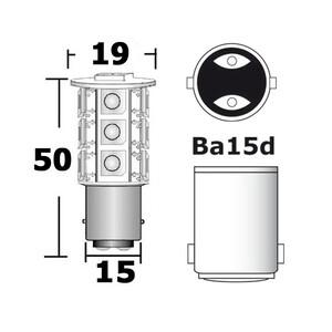 LED 21-Chip Bulb BA15D