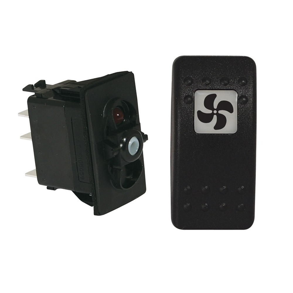 Illuminated Rocker Switch - Fan
