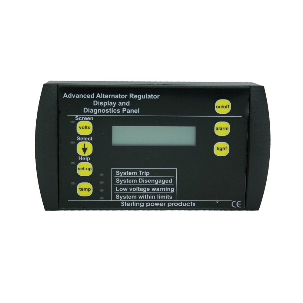 Remote Display & Control for Advanced Alternator Regulator