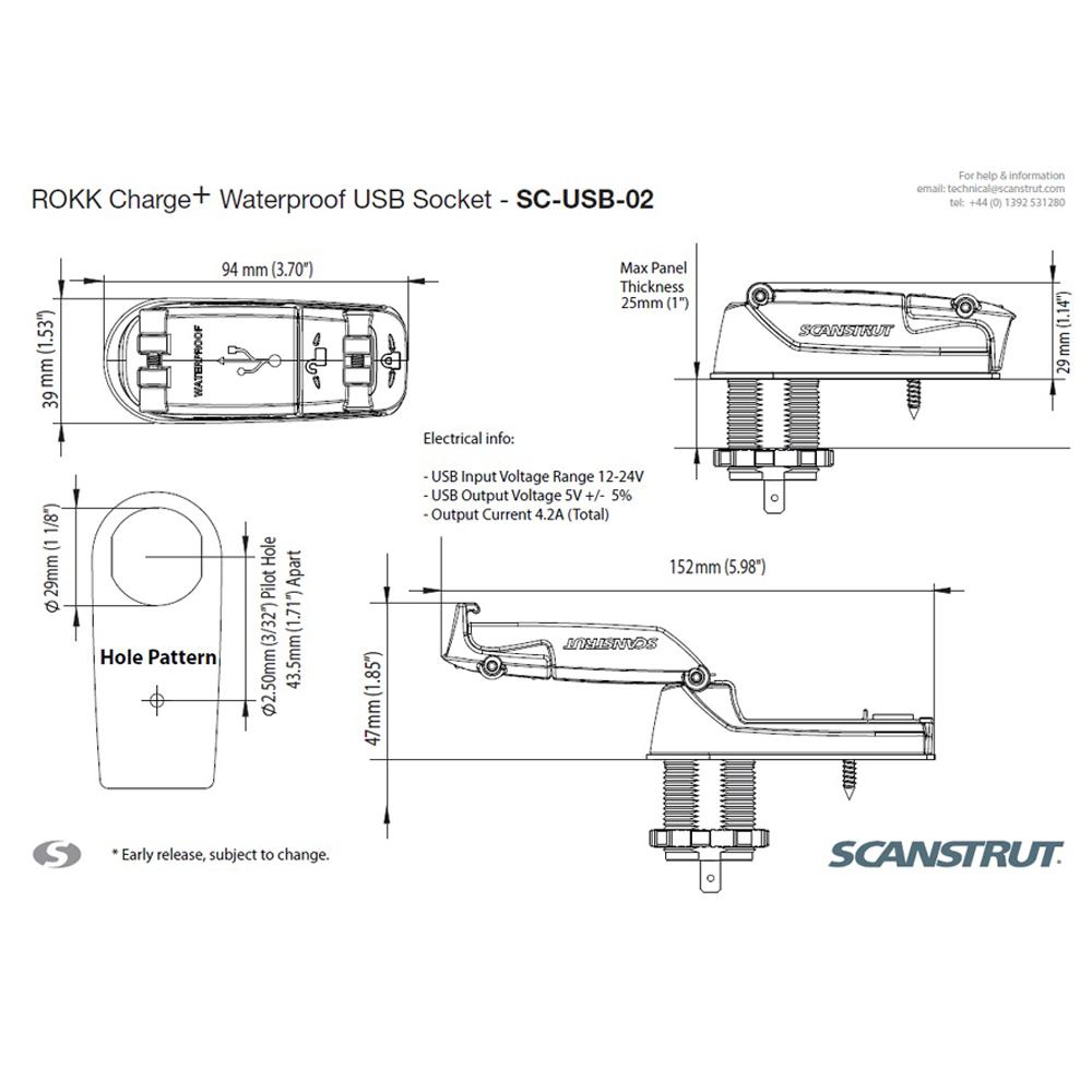 Charge Plus Rapid Charge Waterproof USB Socket