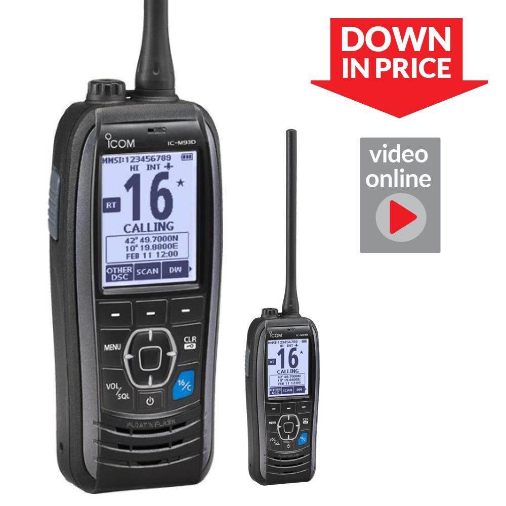IC-M93D Euro DSC Handheld VHF