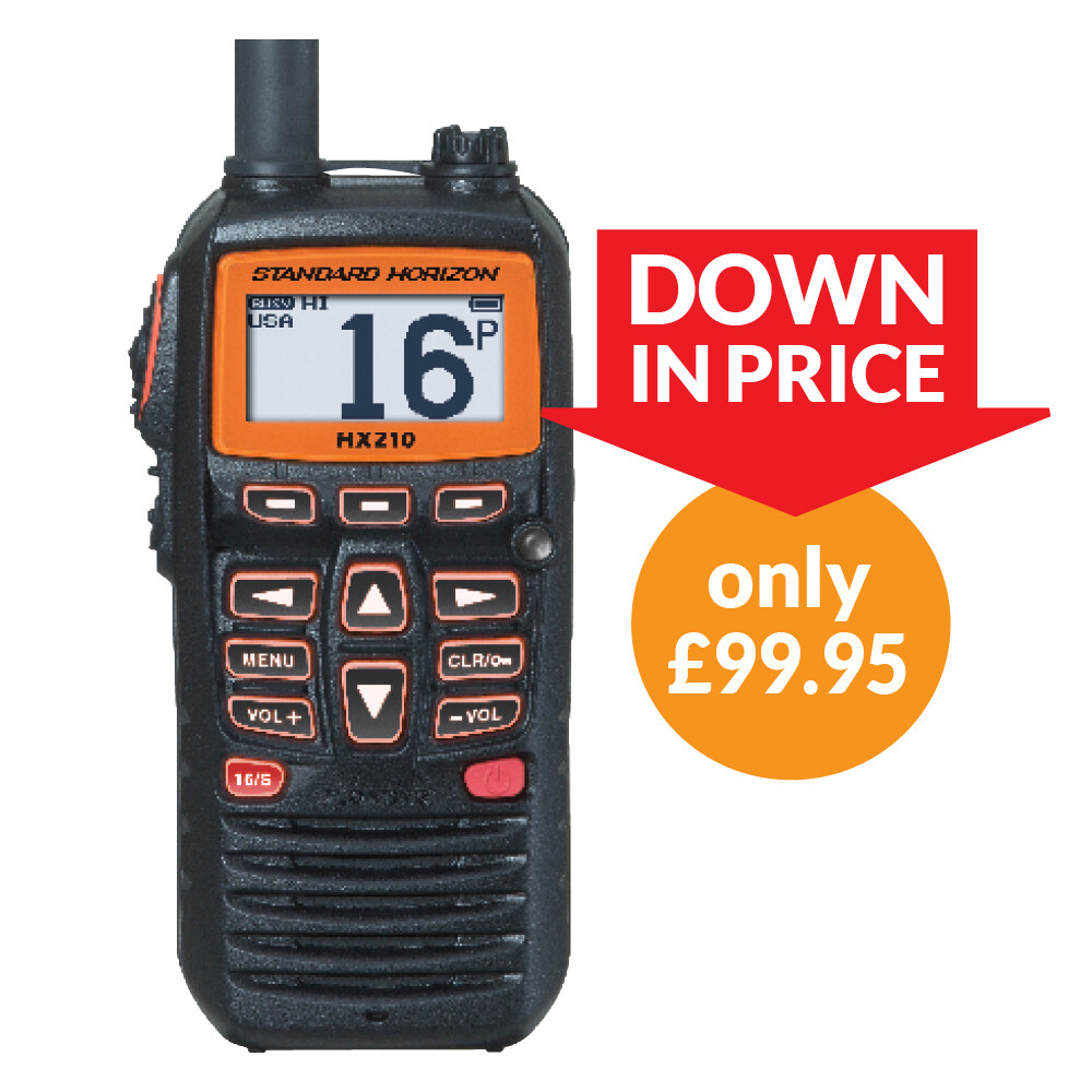 HX210E Handheld VHF with FM Radio